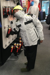 Getting the offshore sailing jacket, really toasty in a heated store!